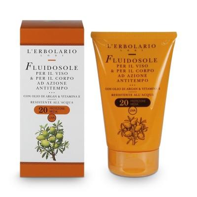 Слънезащитен флуид за лице и тяло с олио от арган и вит. ЕSPF20
