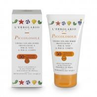 Слънцезащитен крем за деца с невен и олио от ядки на праскова SPF50